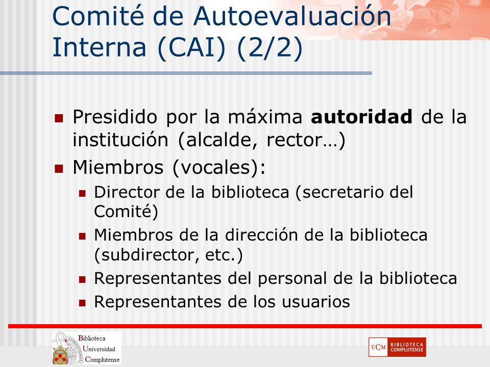 Comité de Autoevaluación Interna (CAI) (2/2)