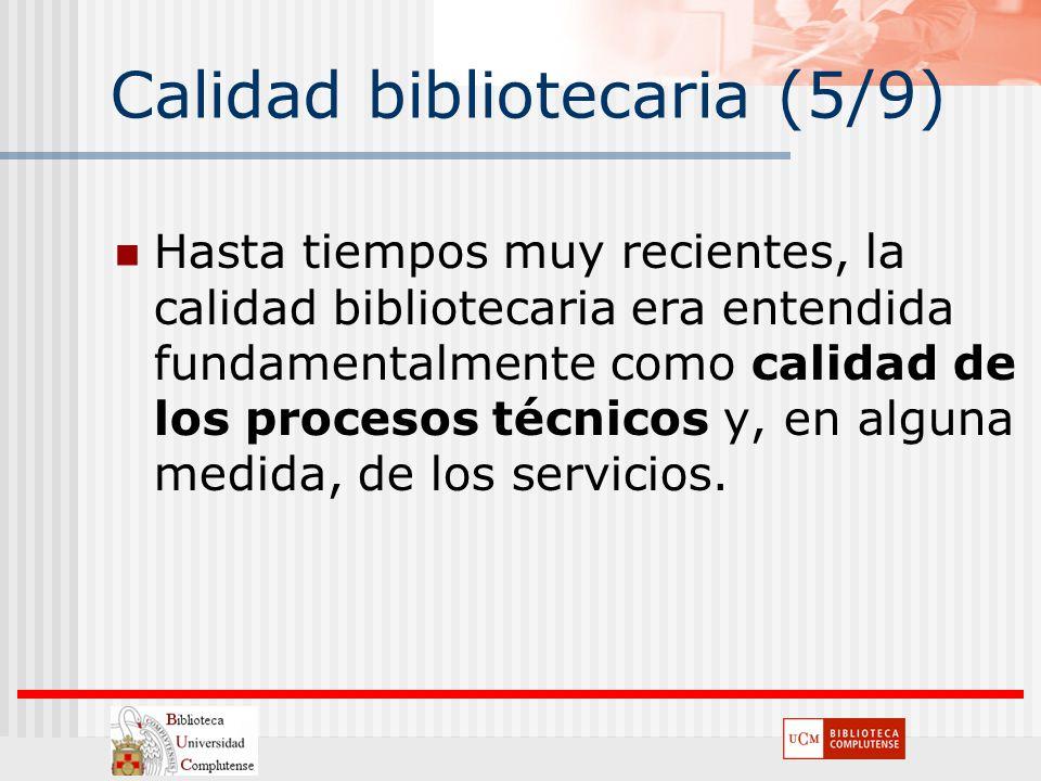 Calidad bibliotecaria (5/9)