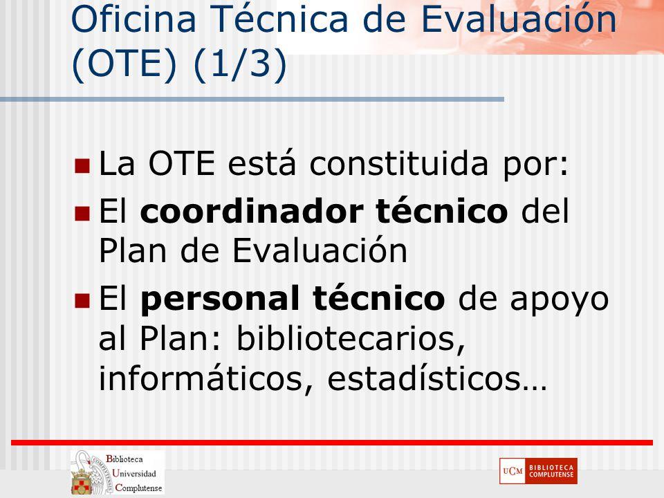 Oficina Técnica de Evaluación (OTE) (1/3)
