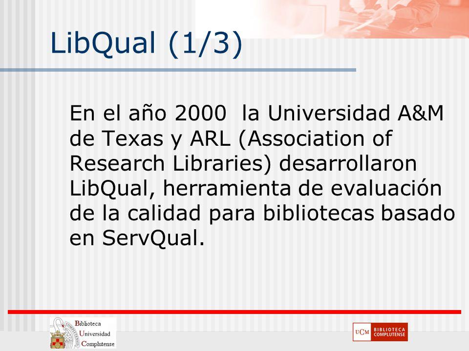 LibQual (1/3)