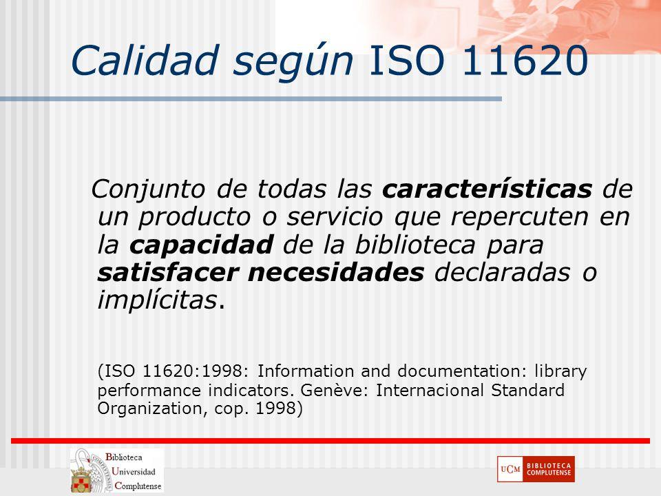 Calidad según ISO 11620