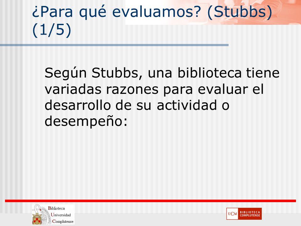 ¿Para qué evaluamos (Stubbs) (1/5)