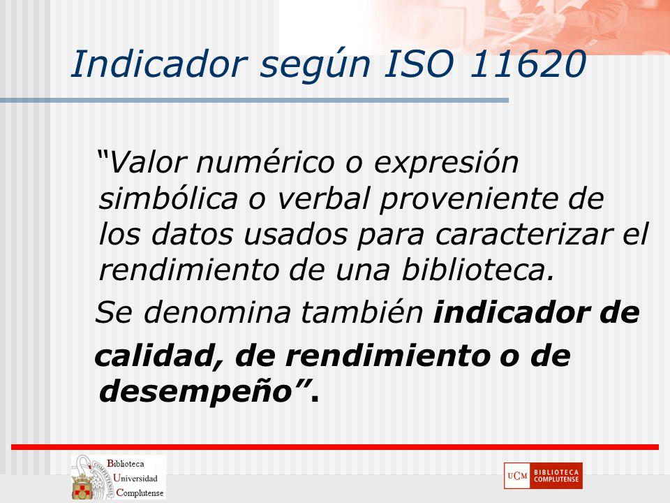 Indicador según ISO 11620