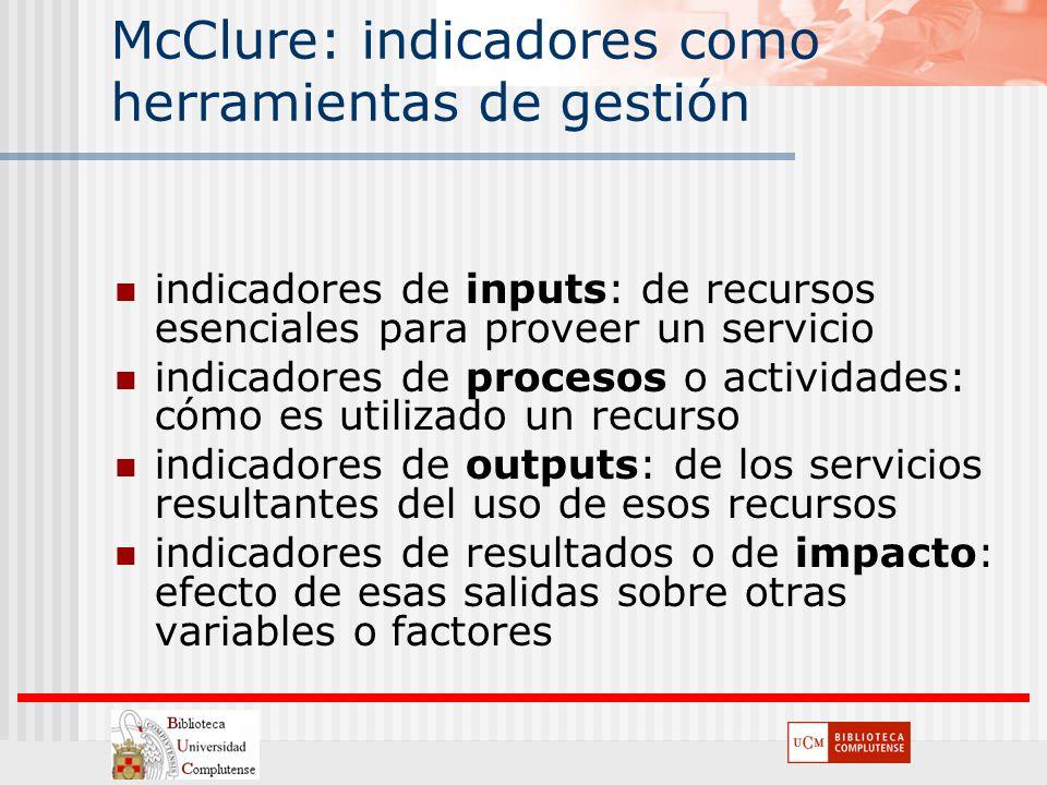 McClure: indicadores como herramientas de gestión