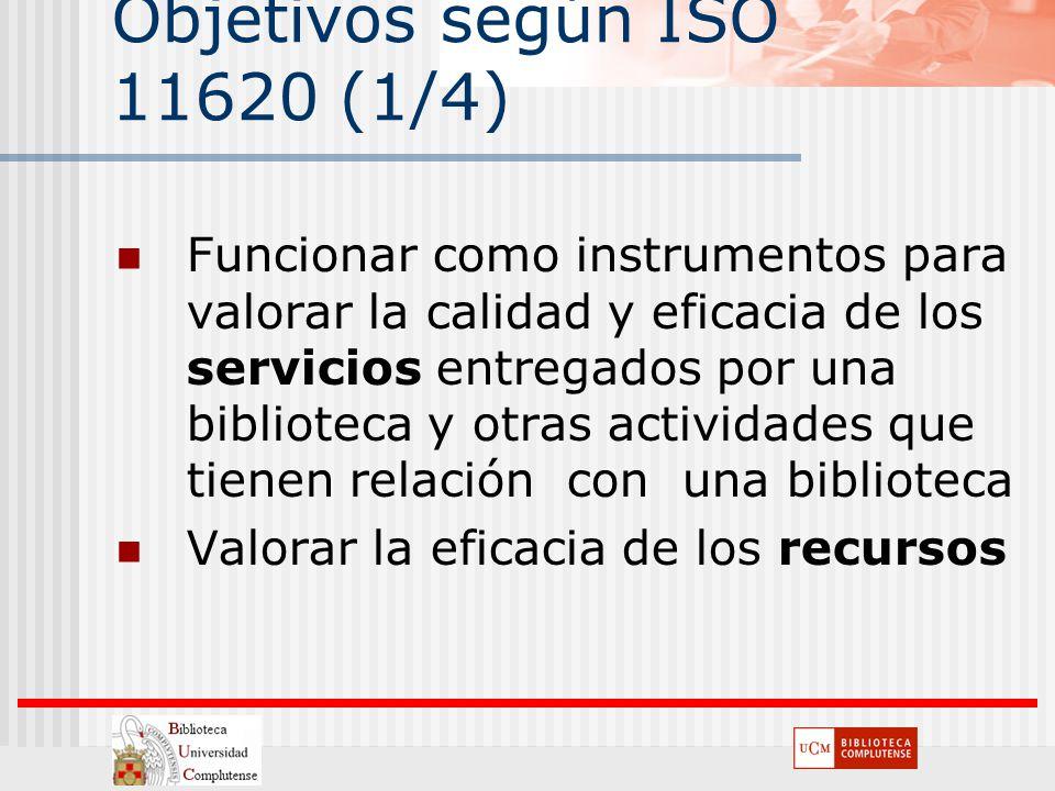 Objetivos según ISO 11620 (1/4)