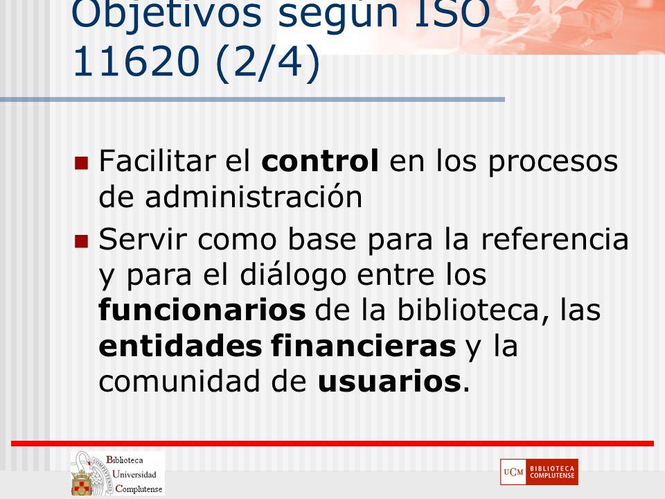 Objetivos según ISO 11620 (2/4)