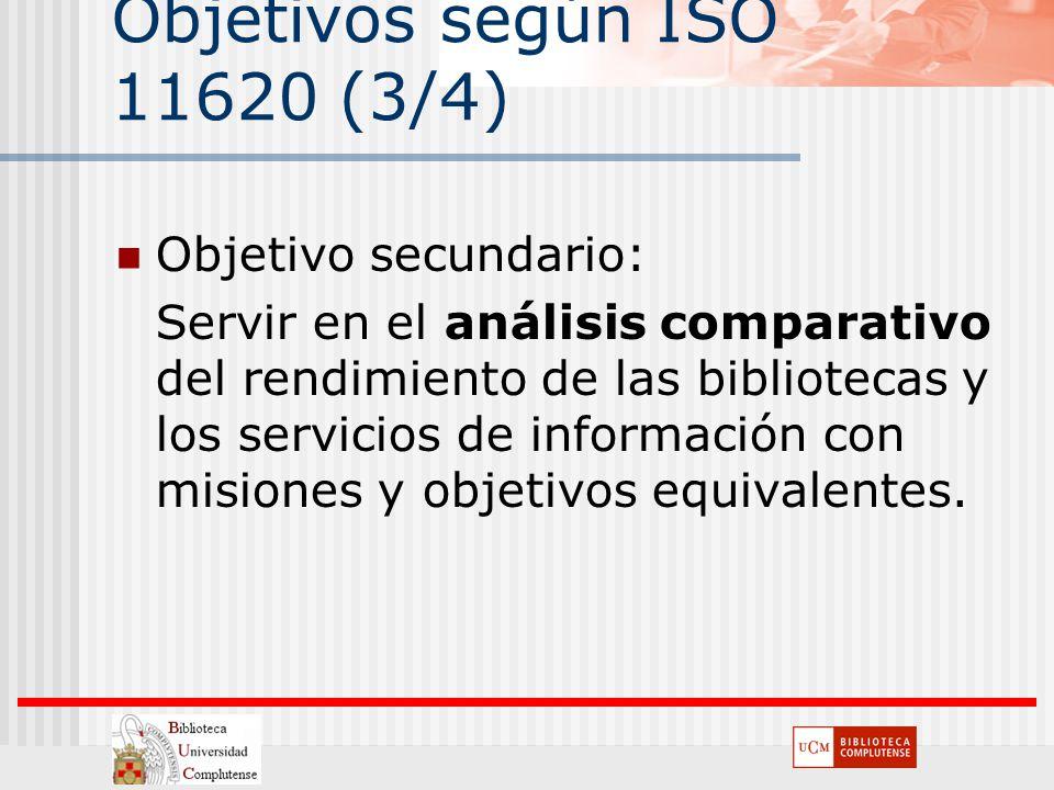 Objetivos según ISO 11620 (3/4)