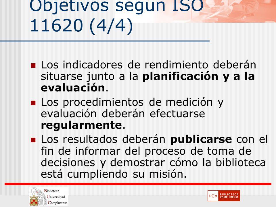 Objetivos según ISO 11620 (4/4)