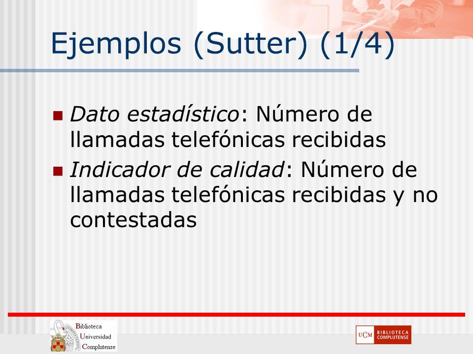 Ejemplos (Sutter) (1/4) Dato estadístico: Número de llamadas telefónicas recibidas.