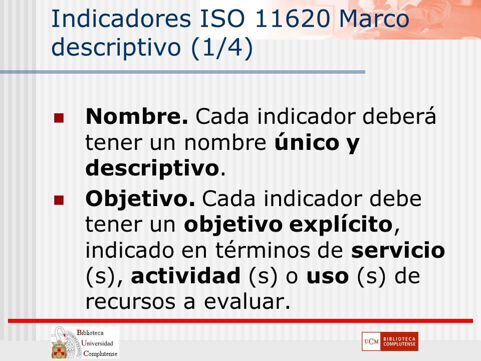 Indicadores ISO 11620 Marco descriptivo (1/4)