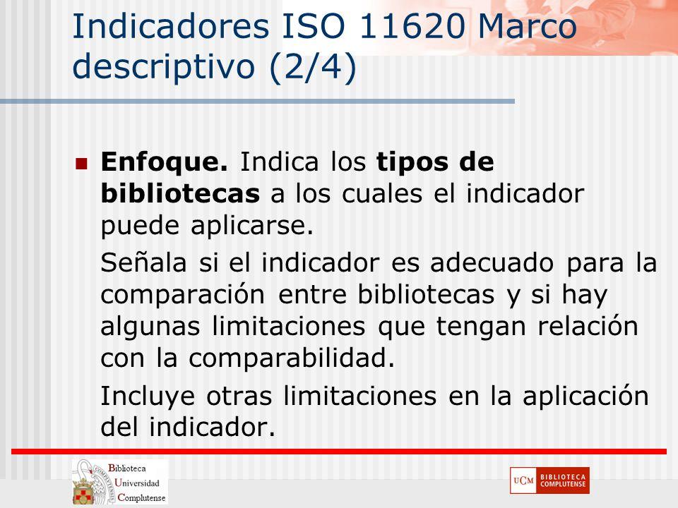 Indicadores ISO 11620 Marco descriptivo (2/4)