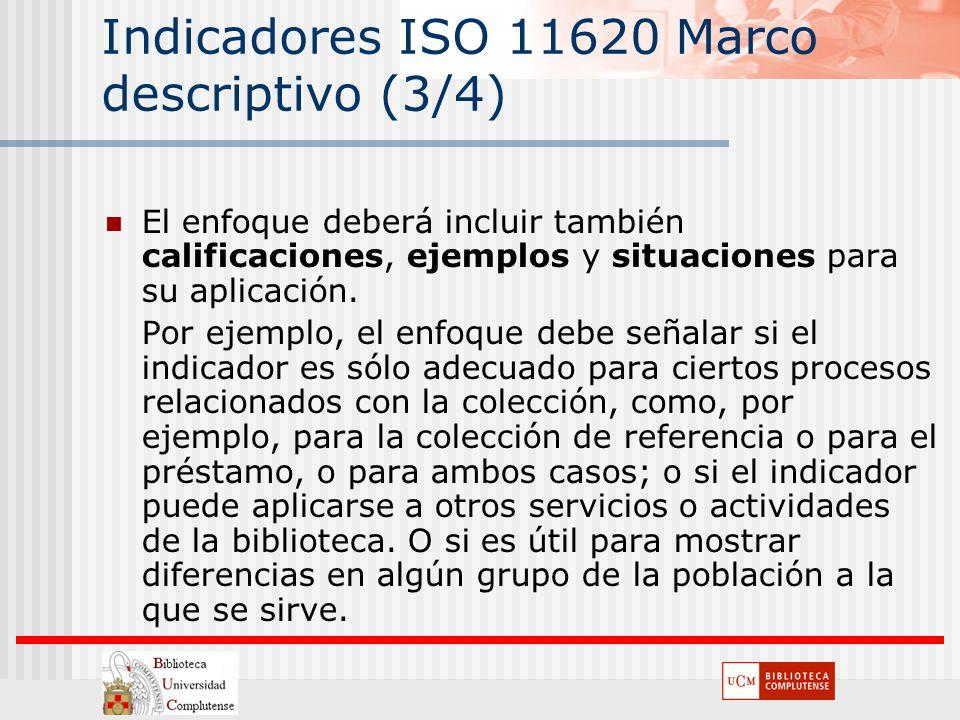 Indicadores ISO 11620 Marco descriptivo (3/4)