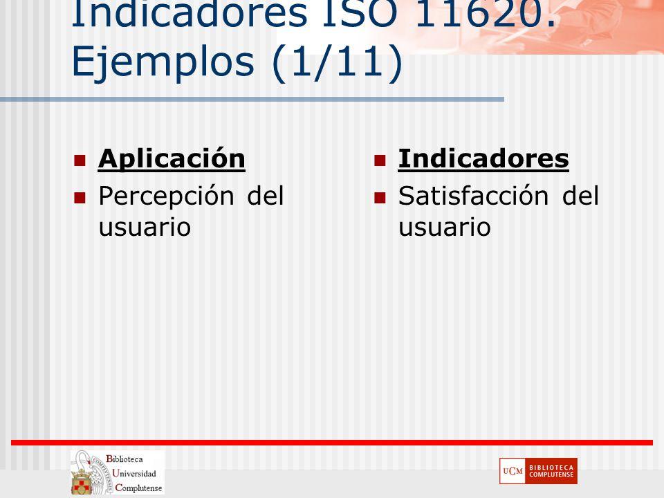 Indicadores ISO 11620. Ejemplos (1/11)