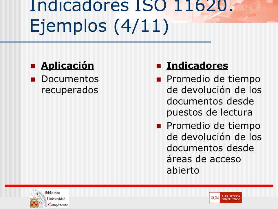 Indicadores ISO 11620. Ejemplos (4/11)