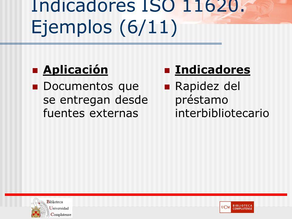 Indicadores ISO 11620. Ejemplos (6/11)