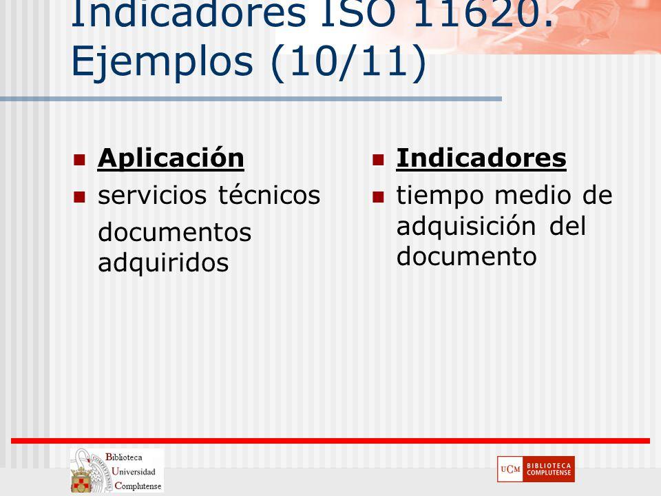 Indicadores ISO 11620. Ejemplos (10/11)