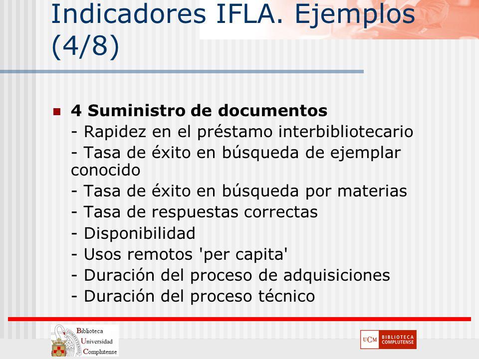 Indicadores IFLA. Ejemplos (4/8)