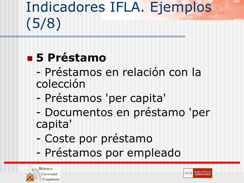 Indicadores IFLA. Ejemplos (5/8)