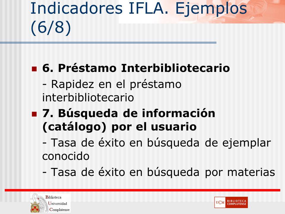Indicadores IFLA. Ejemplos (6/8)