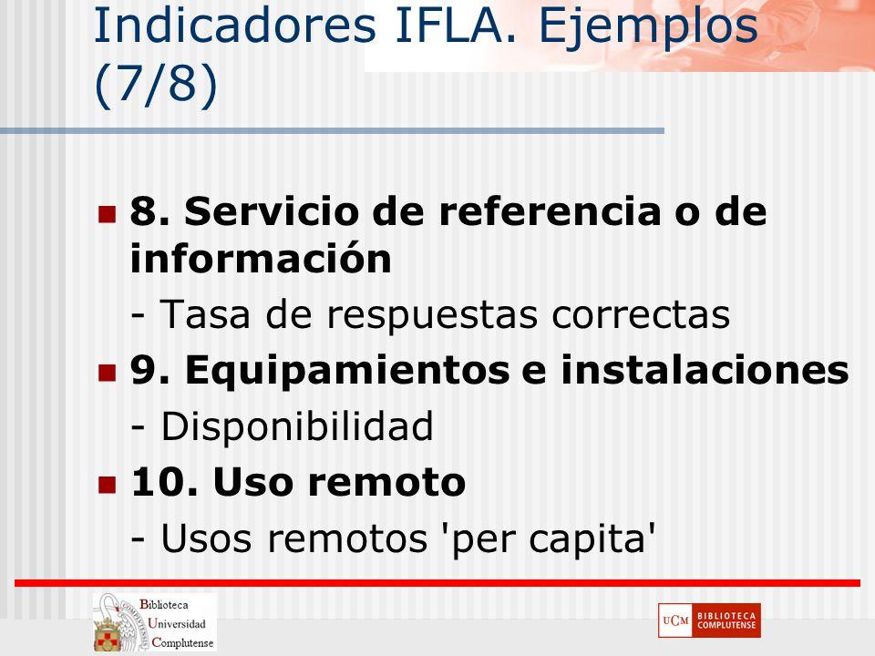 Indicadores IFLA. Ejemplos (7/8)