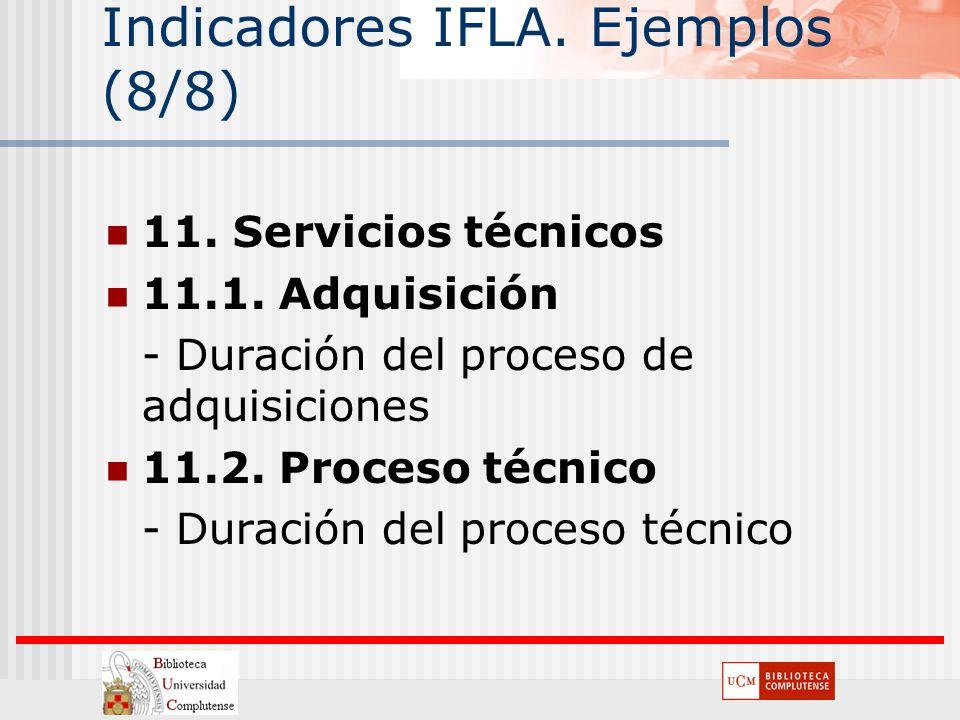 Indicadores IFLA. Ejemplos (8/8)