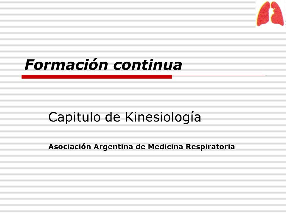Capitulo de Kinesiología Asociación Argentina de Medicina Respiratoria