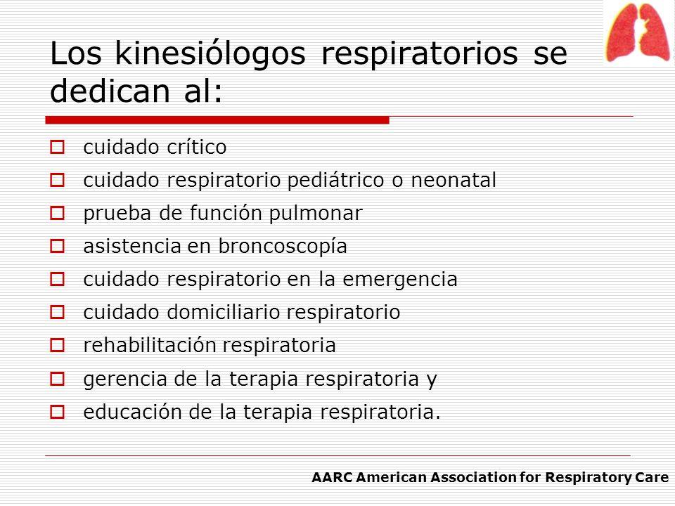 Los kinesiólogos respiratorios se dedican al: