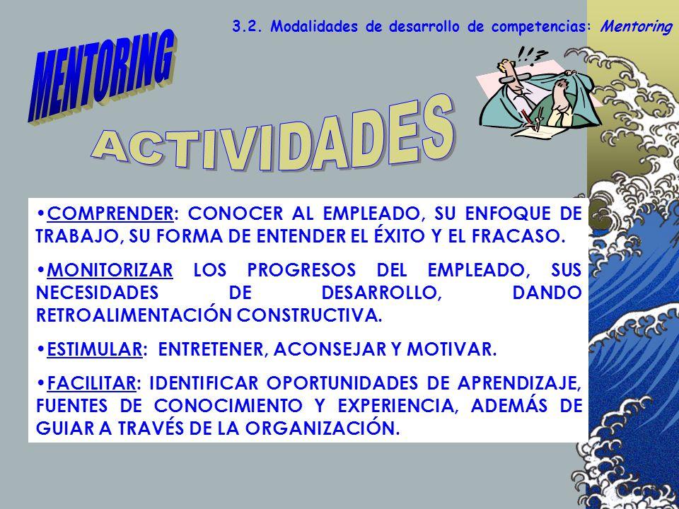 MENTORING ACTIVIDADES