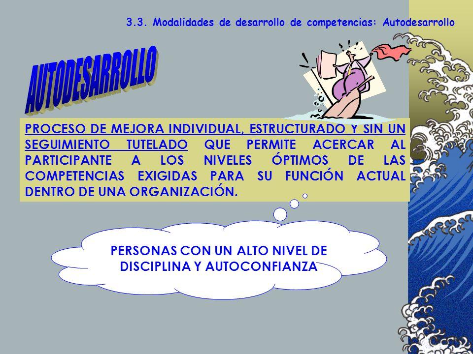 PERSONAS CON UN ALTO NIVEL DE DISCIPLINA Y AUTOCONFIANZA