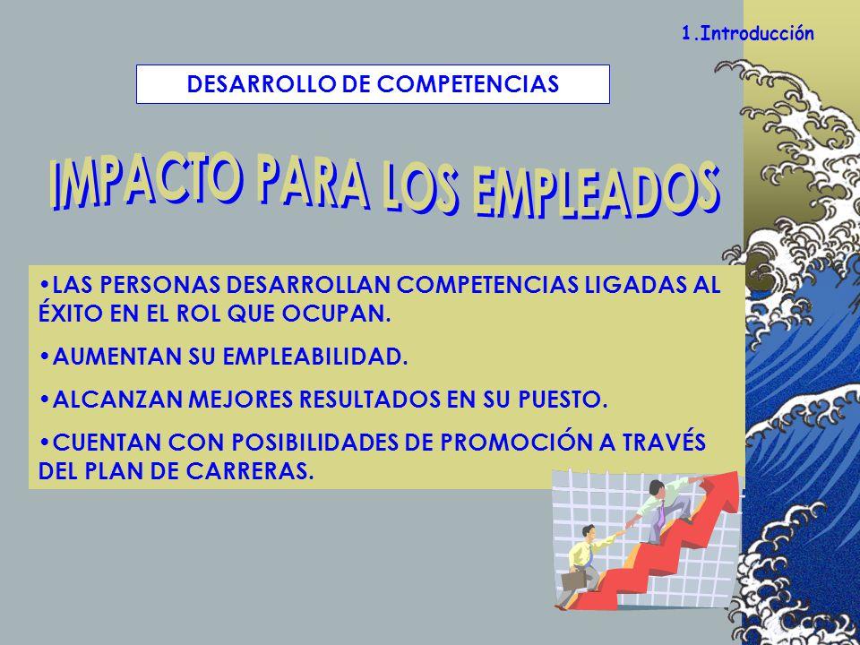 DESARROLLO DE COMPETENCIAS IMPACTO PARA LOS EMPLEADOS