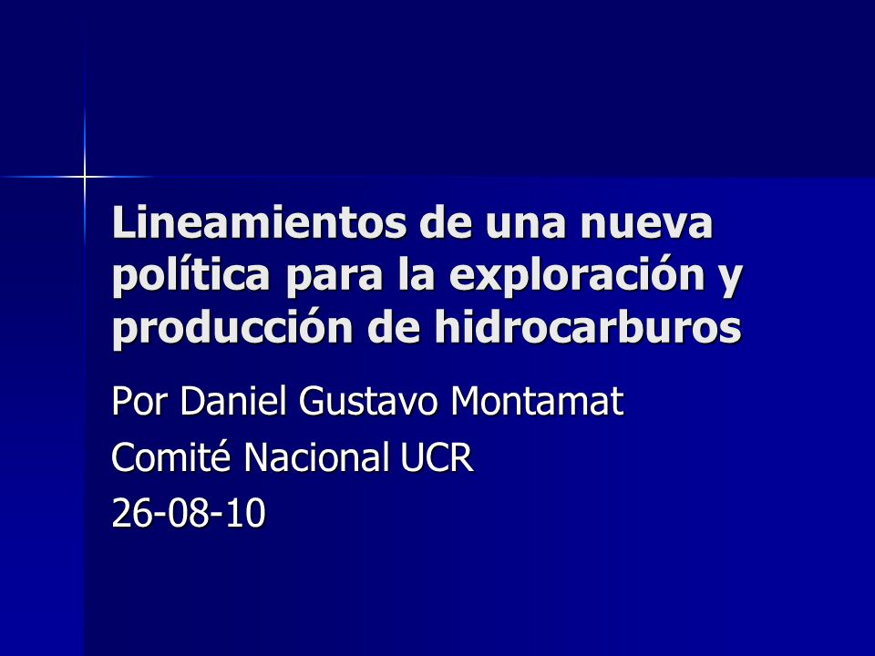 Por Daniel Gustavo Montamat Comité Nacional UCR 26-08-10