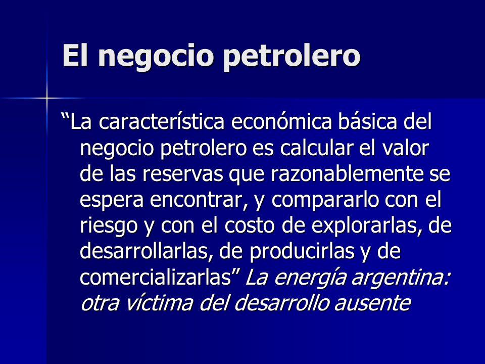 El negocio petrolero