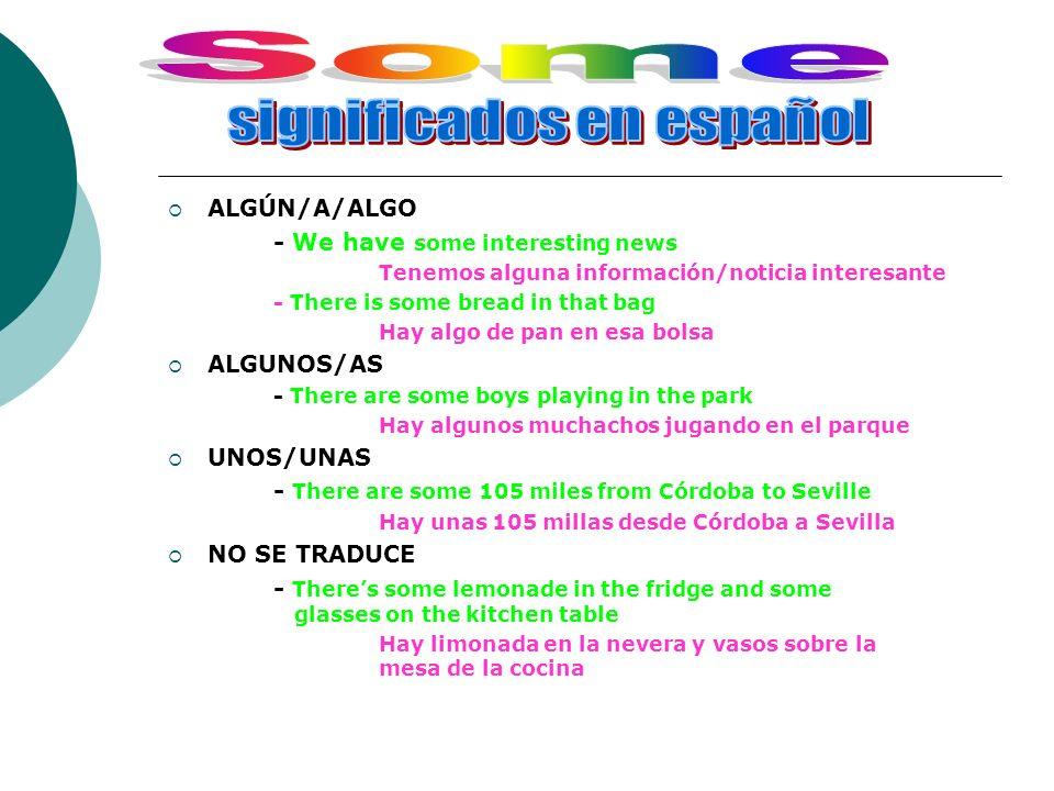 significados en español