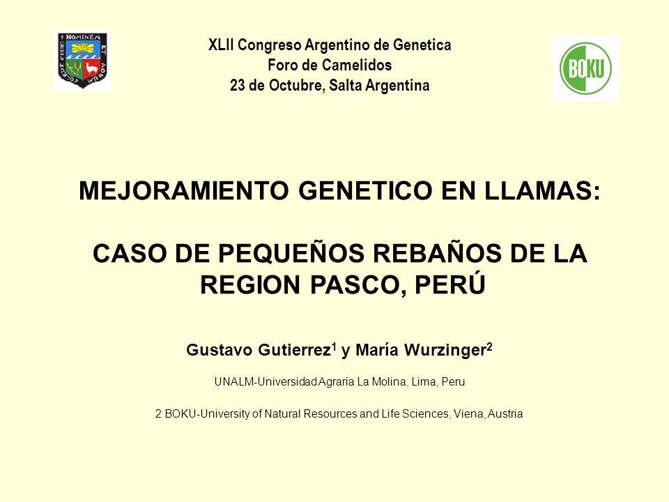 XLII Congreso Argentino de Genetica 23 de Octubre, Salta Argentina