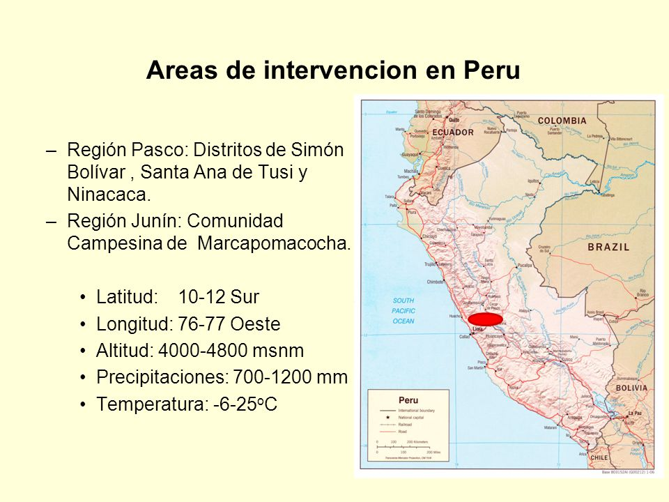 Areas de intervencion en Peru