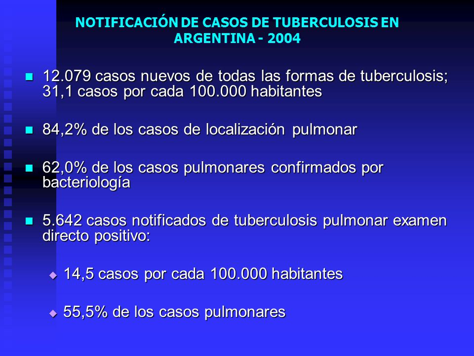 NOTIFICACIÓN DE CASOS DE TUBERCULOSIS EN ARGENTINA - 2004