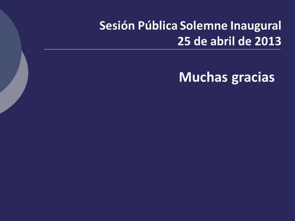 Sesión Pública Solemne Inaugural