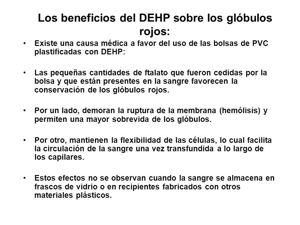 Los beneficios del DEHP sobre los glóbulos rojos: