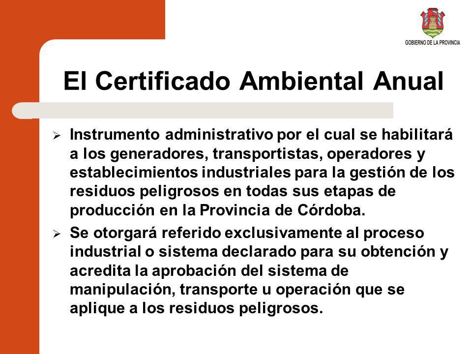 El Certificado Ambiental Anual