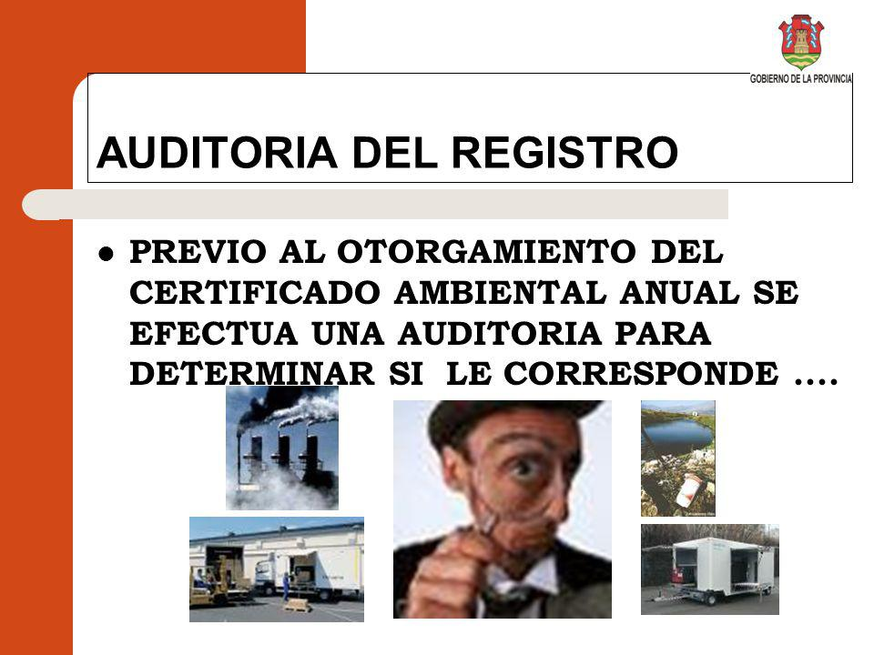 AUDITORIA DEL REGISTRO