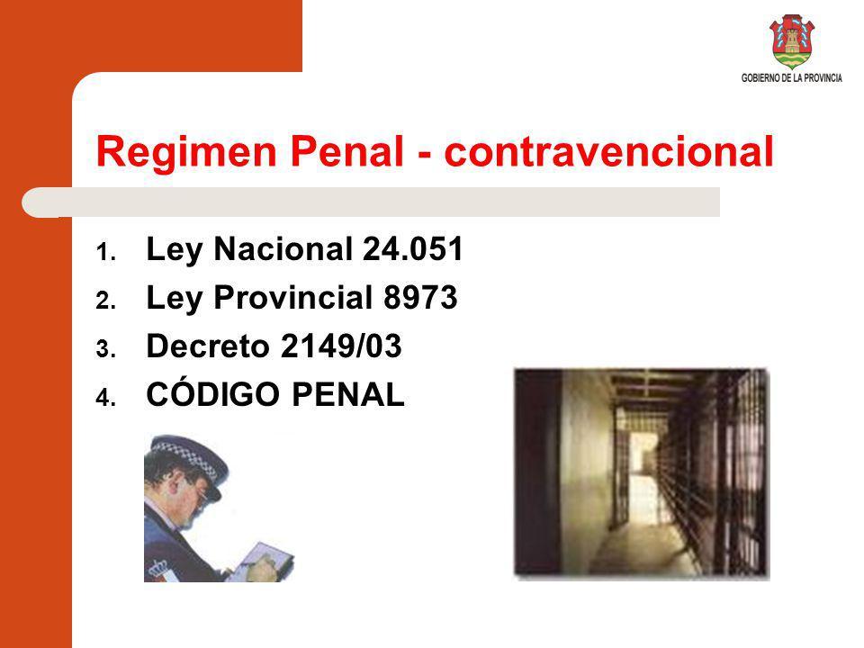 Regimen Penal - contravencional