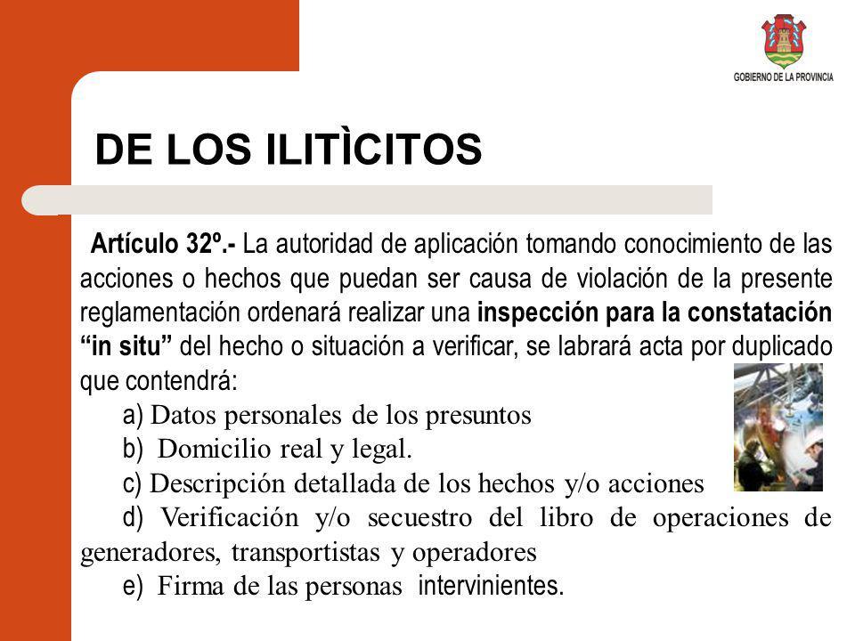 DE LOS ILITÌCITOS a) Datos personales de los presuntos