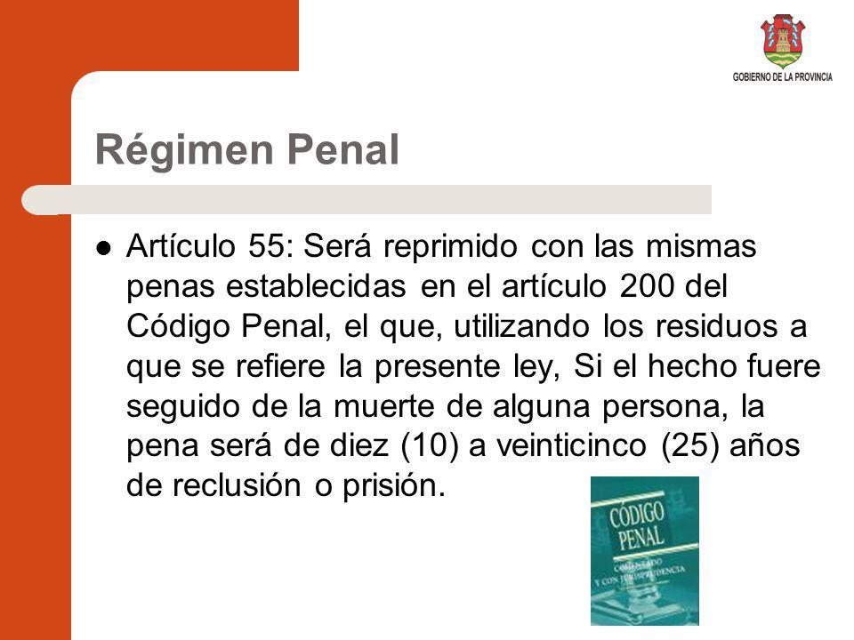 Régimen Penal