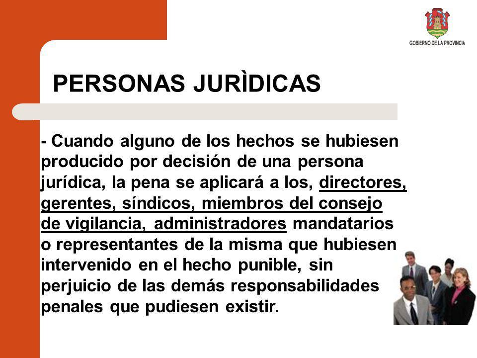 PERSONAS JURÌDICAS