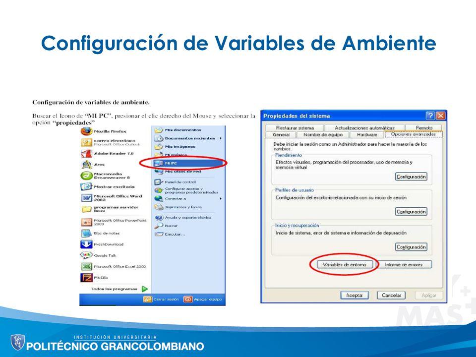 Configuración de Variables de Ambiente