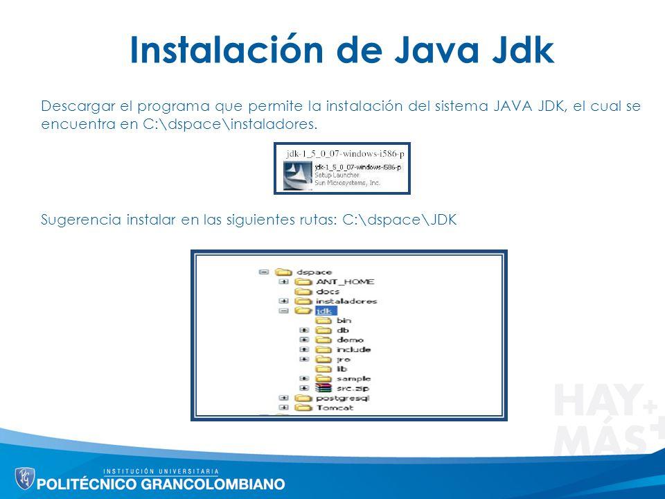 Instalación de Java Jdk