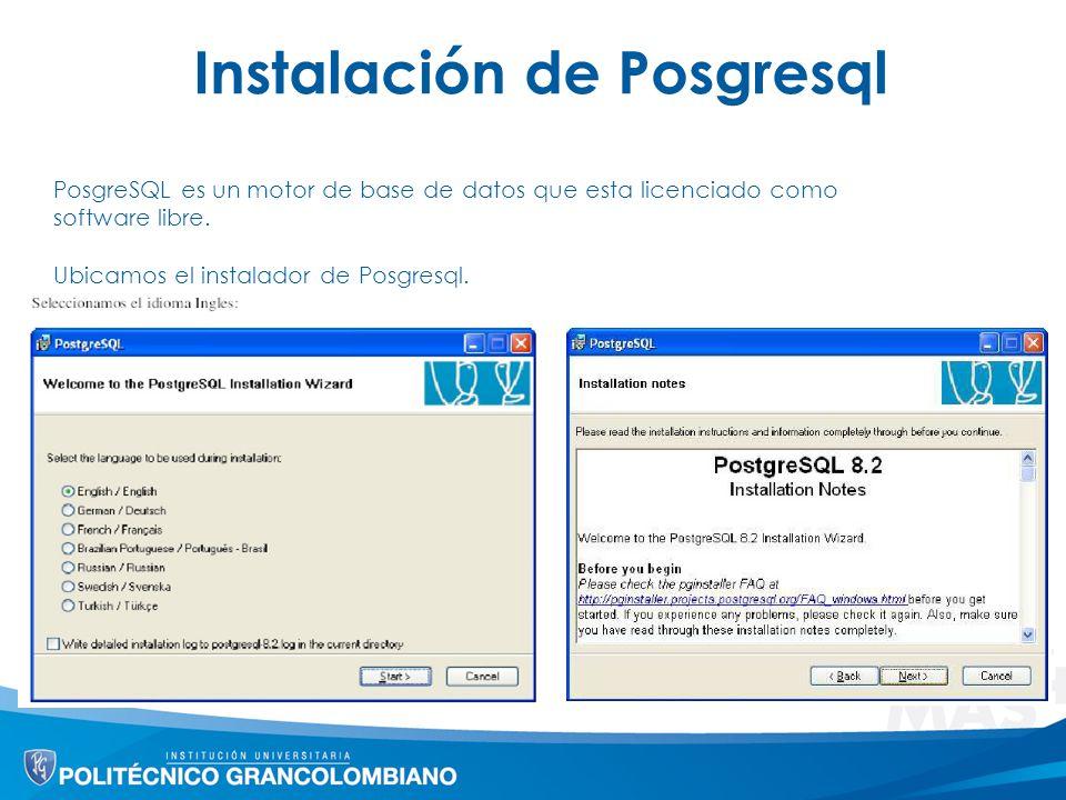 Instalación de Posgresql