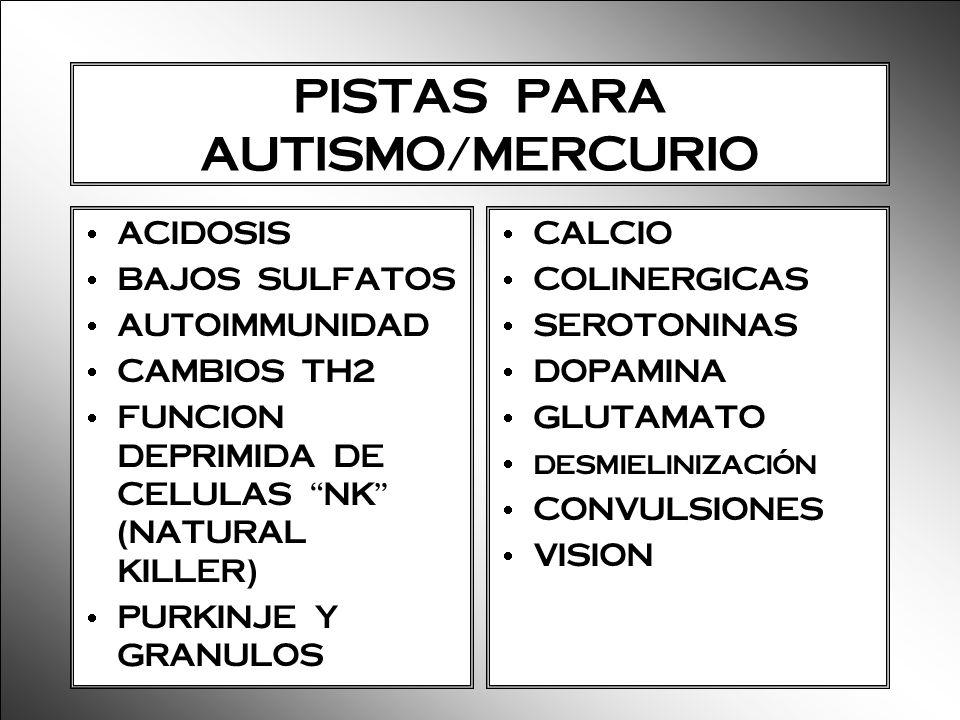 PISTAS PARA AUTISMO/MERCURIO