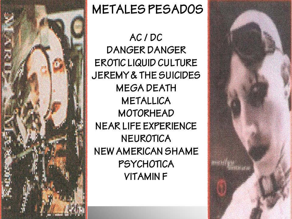 METALES PESADOS AC / DC DANGER DANGER EROTIC LIQUID CULTURE