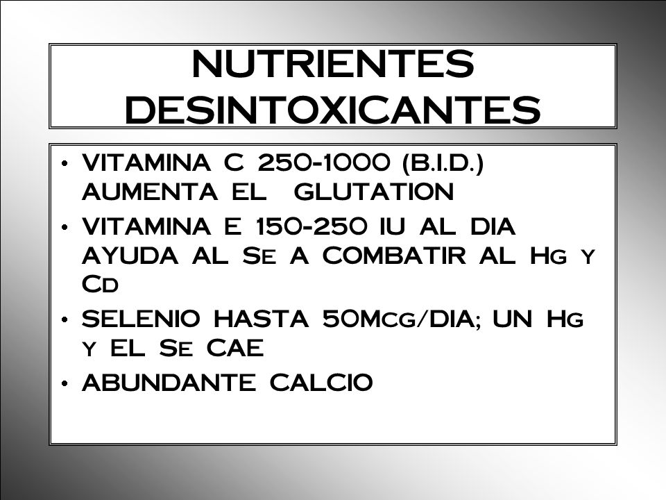 NUTRIENTES DESINTOXICANTES